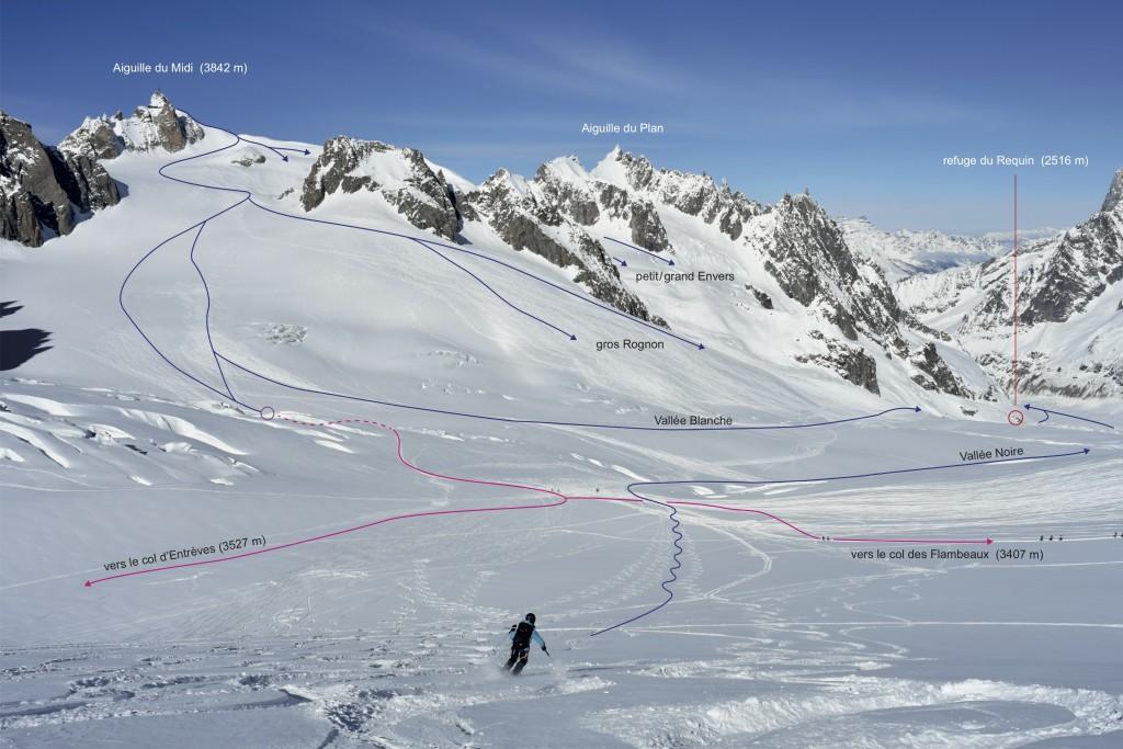 1 - descente Vallée Blanche